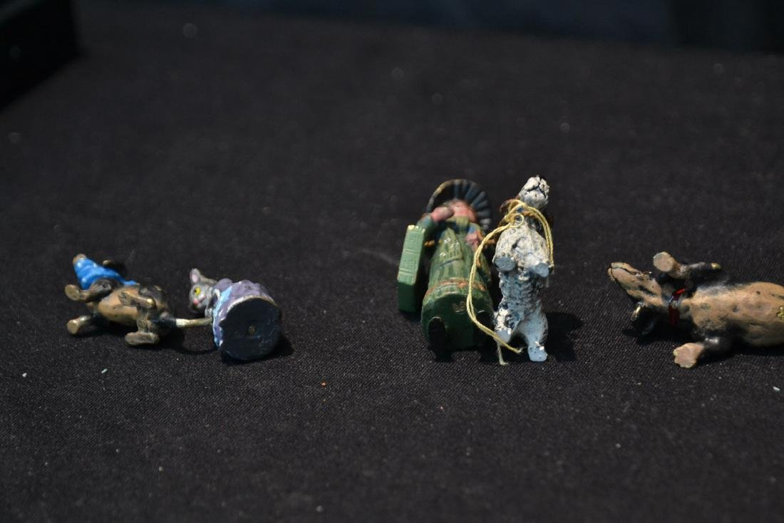 (7) ASSORTED COLD PAINTED BRONZE MINIATURES - 8