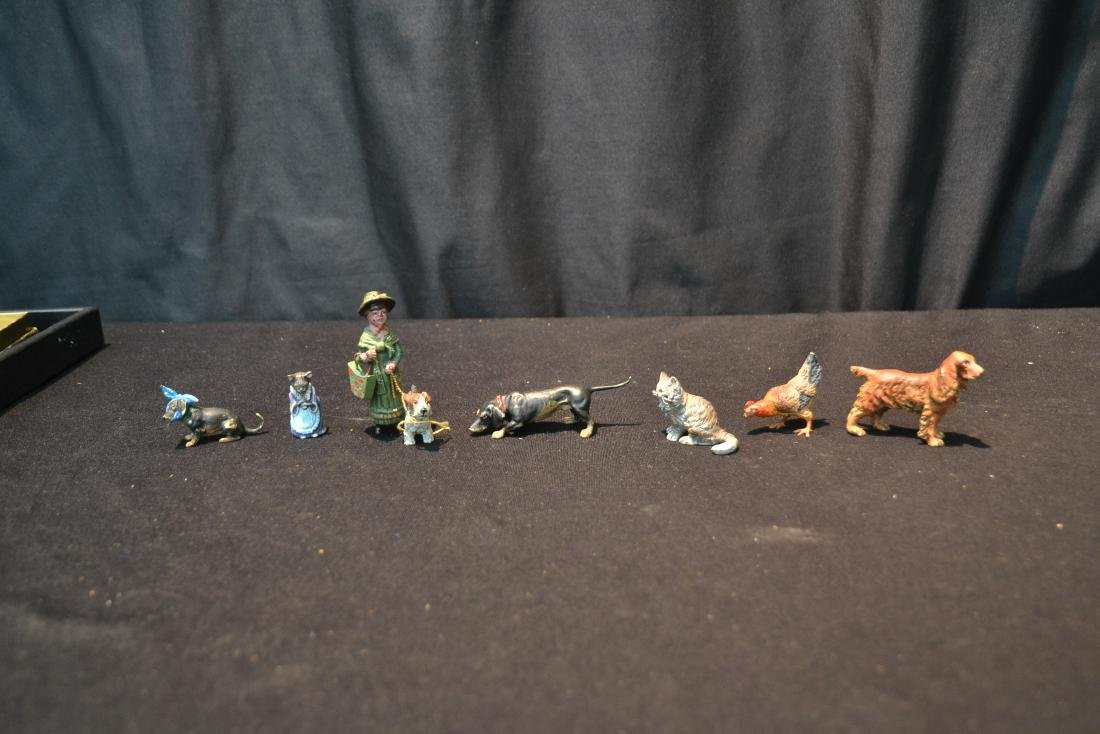 (7) ASSORTED COLD PAINTED BRONZE MINIATURES - 9