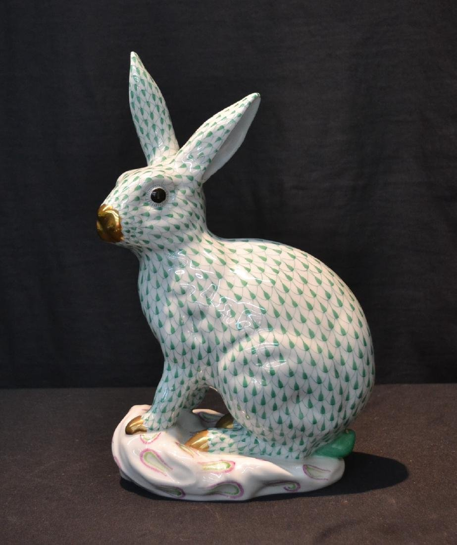 LARGE HEREND PORCELAIN RABBIT WITH