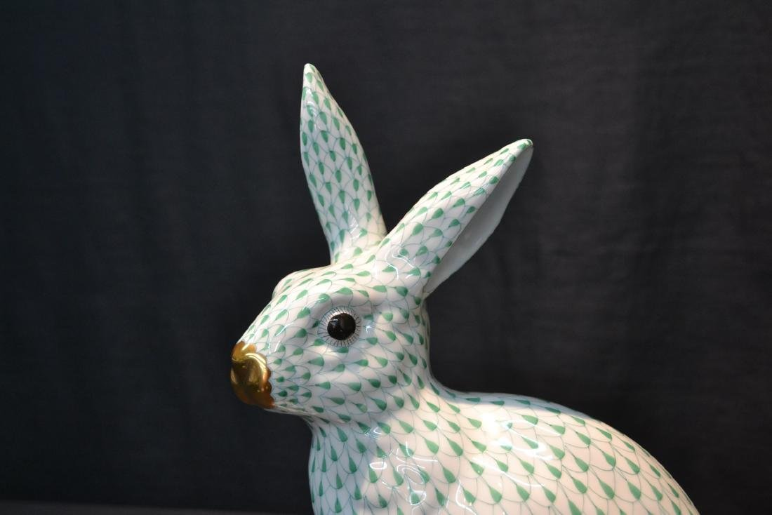 LARGE HEREND PORCELAIN RABBIT WITH - 3