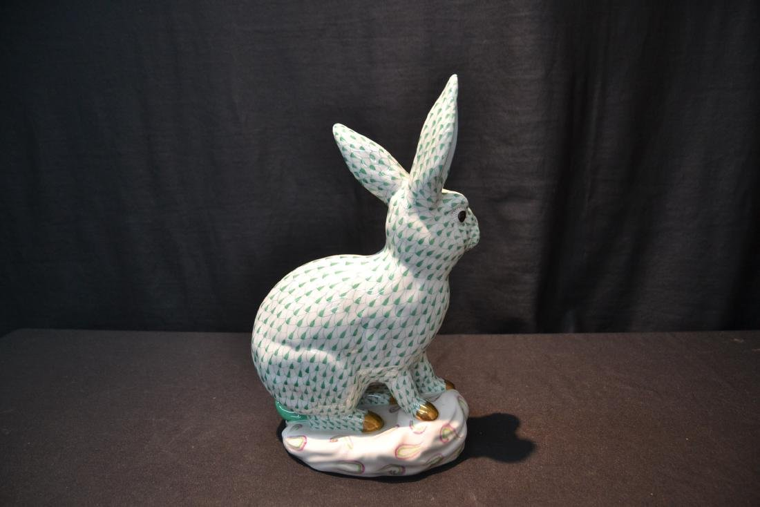 LARGE HEREND PORCELAIN RABBIT WITH - 5