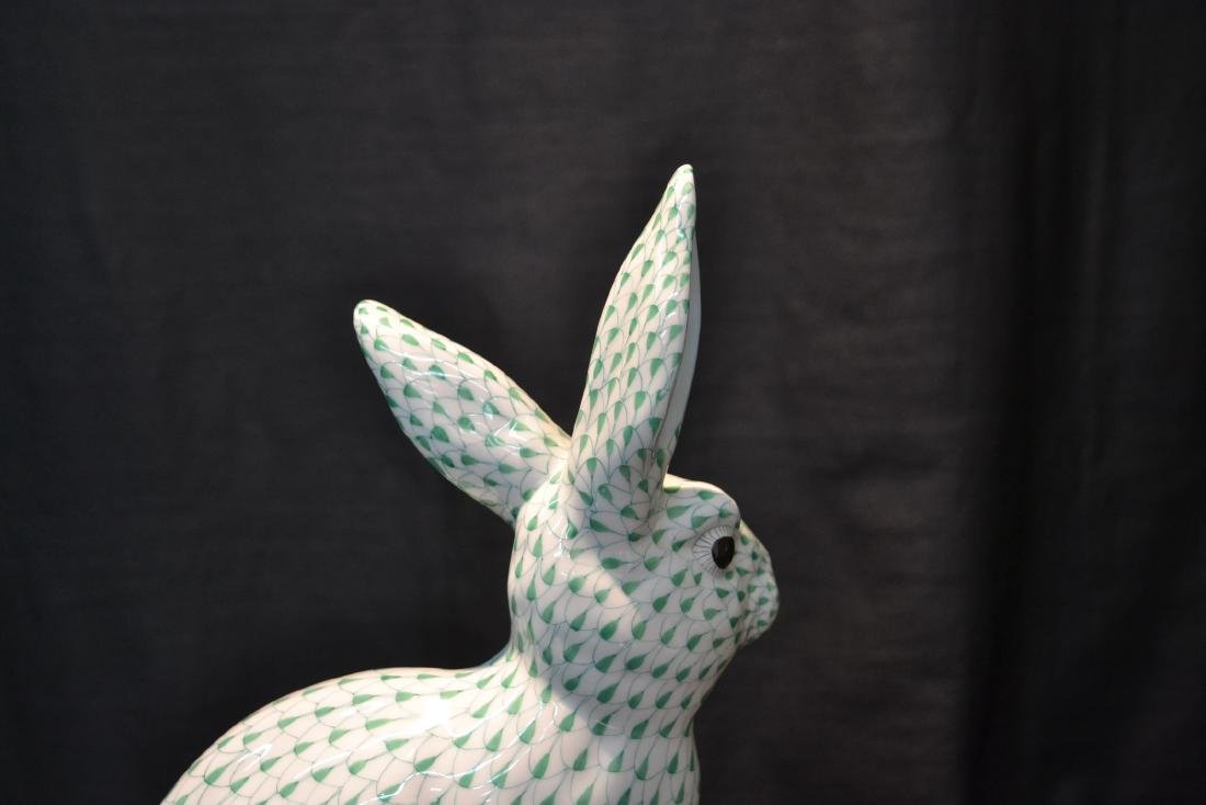 LARGE HEREND PORCELAIN RABBIT WITH - 6