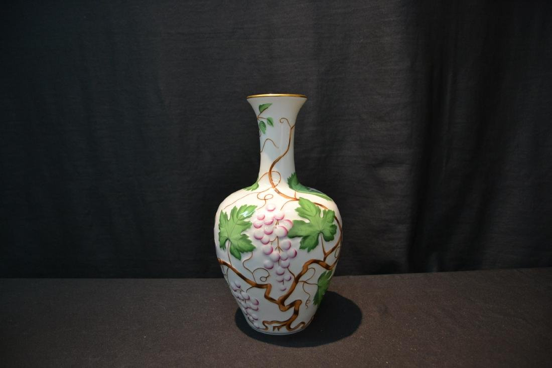 HEREND PORCELAIN VASE WITH RAISED RELEIF - 2