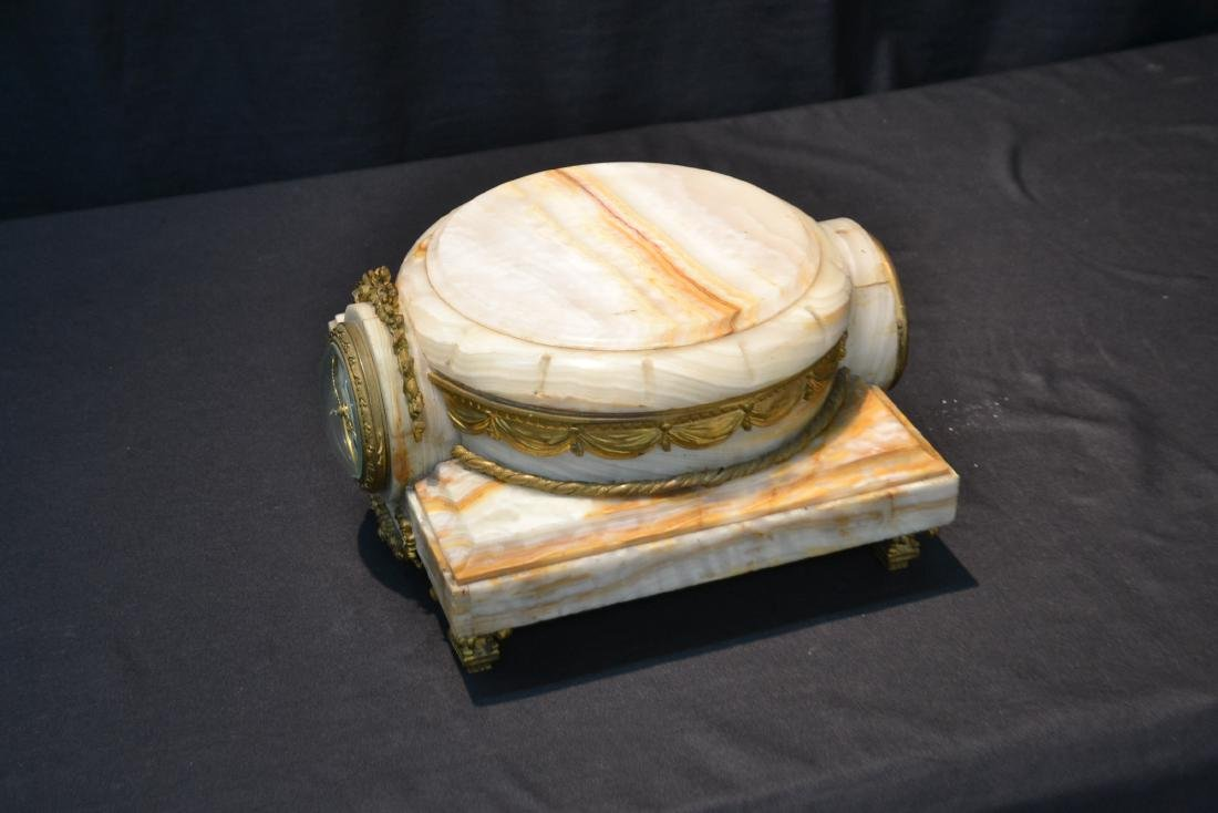 FRENCH ONYX CLOCK PLATEAU WITH BRONZE MOUNTS - 10