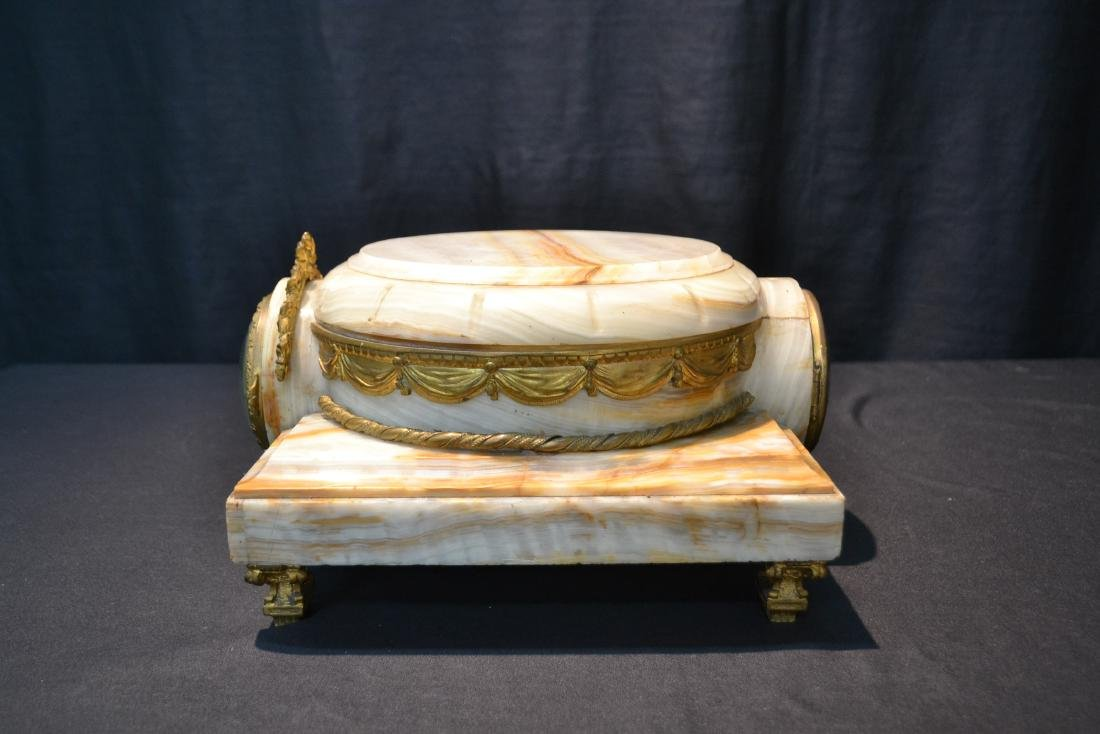 FRENCH ONYX CLOCK PLATEAU WITH BRONZE MOUNTS - 5
