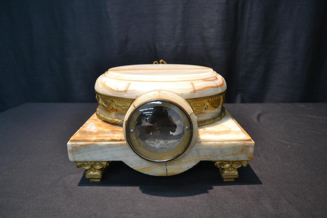 FRENCH ONYX CLOCK PLATEAU WITH BRONZE MOUNTS - 6