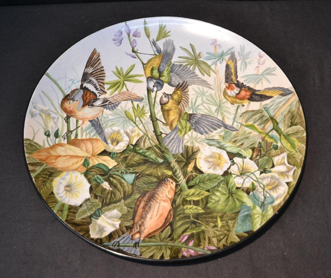 HAND PAINTED PORCELAIN BIRD CHARGER - 16 1/2""