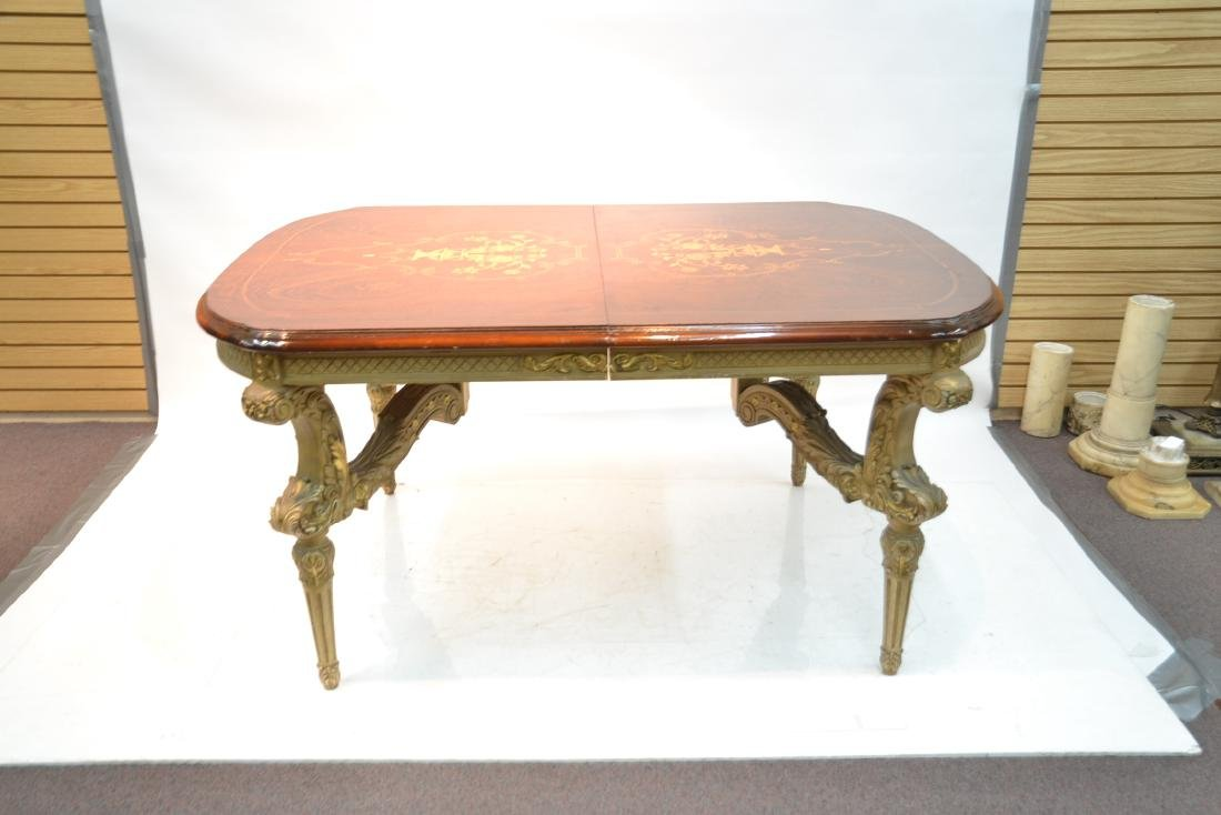 MARQUETRY INLAID DINING ROOM TABLE - 2