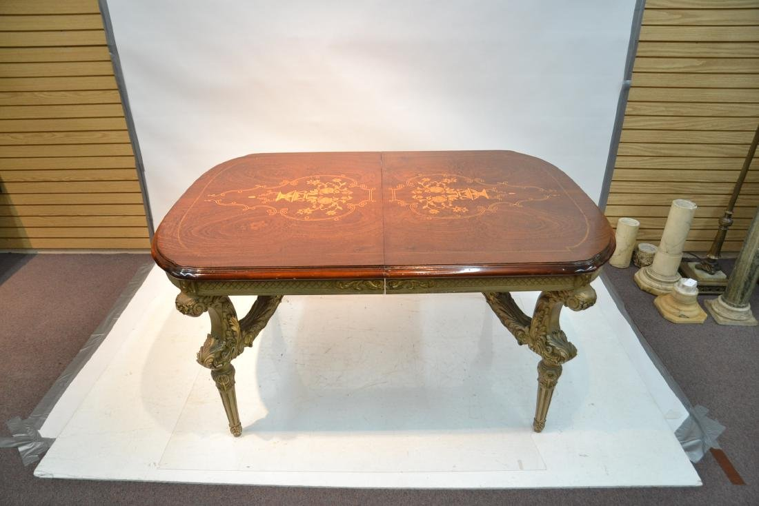 MARQUETRY INLAID DINING ROOM TABLE - 3