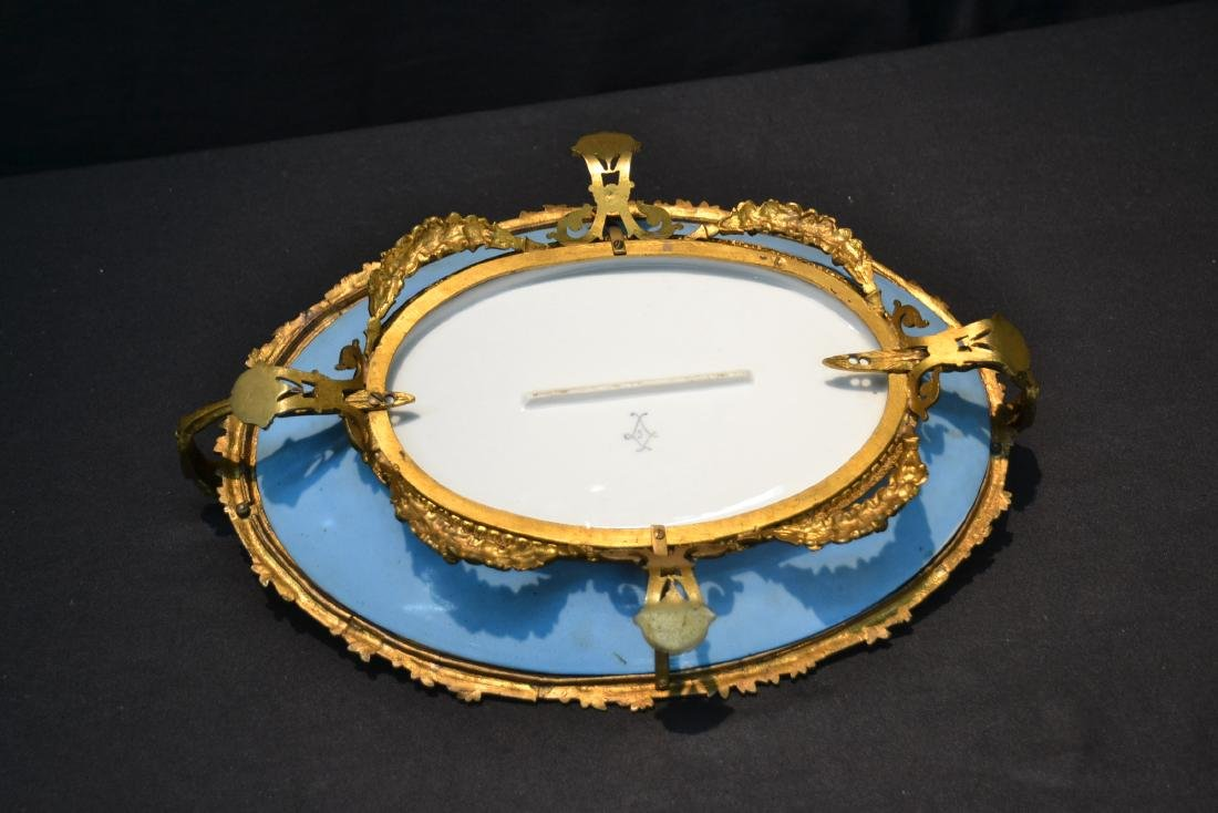 OVAL SEVRES & BRONZE CENTERPIECE TAZZA WITH - 6