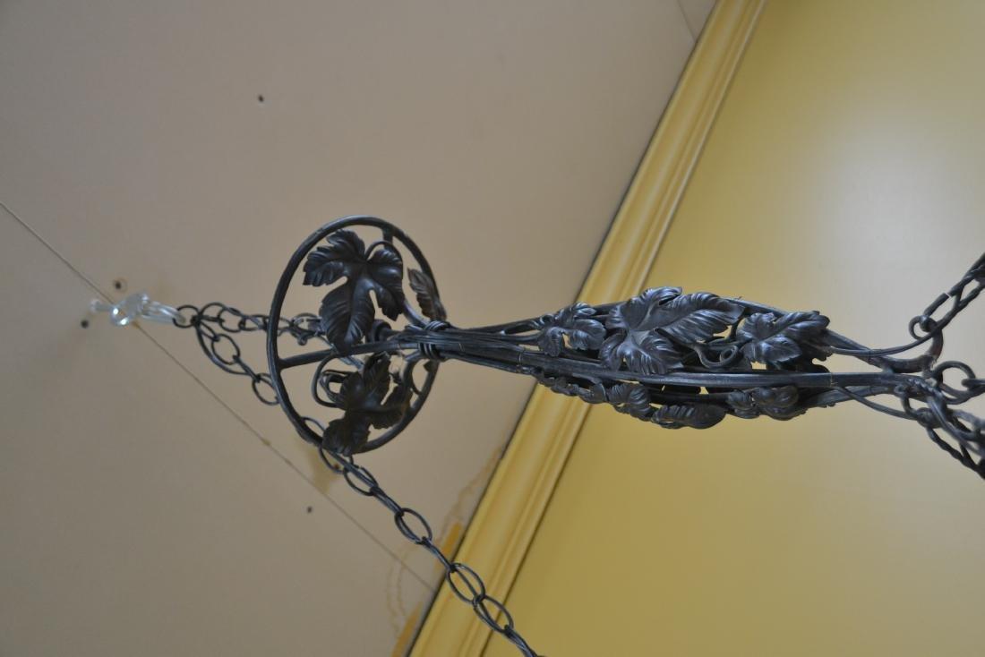 ART DECO WROUGHT IRON & SCHNEIDER ART GLASS - 7