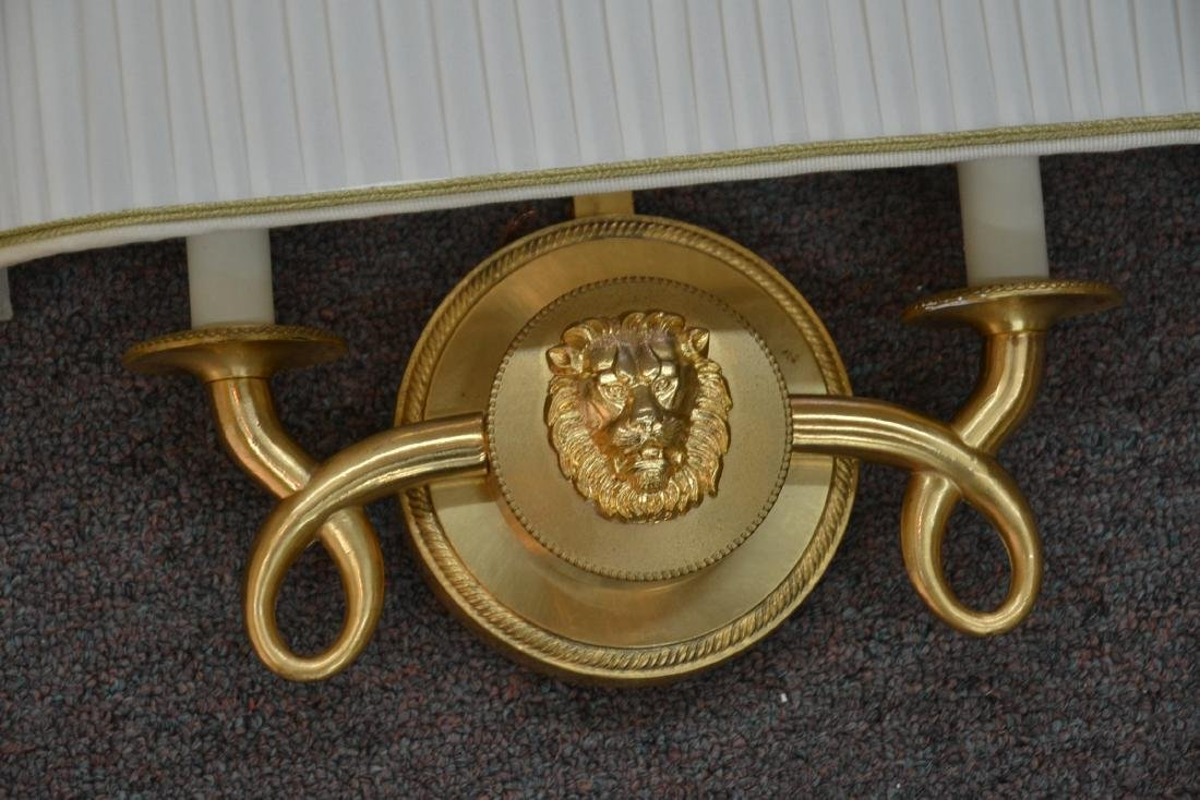 (Pr) DESIGNER BRONZE SCONCES WITH LION HEAD - 5