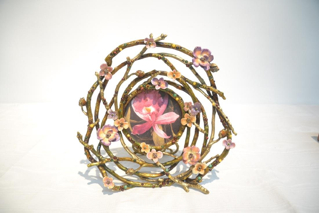 JAY STRONGWATER ENAMELED BRONZE ROUND BRANCH - 10