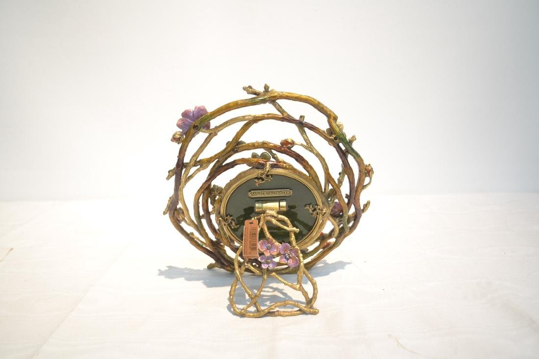 JAY STRONGWATER ENAMELED BRONZE ROUND BRANCH - 5