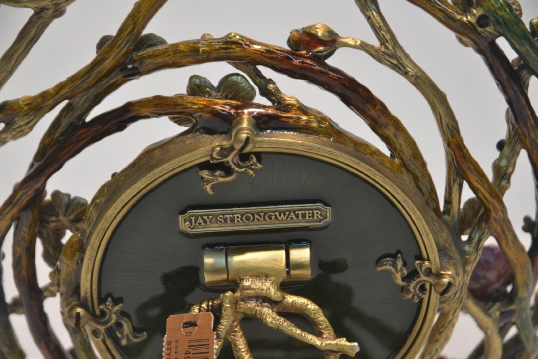 JAY STRONGWATER ENAMELED BRONZE ROUND BRANCH - 6