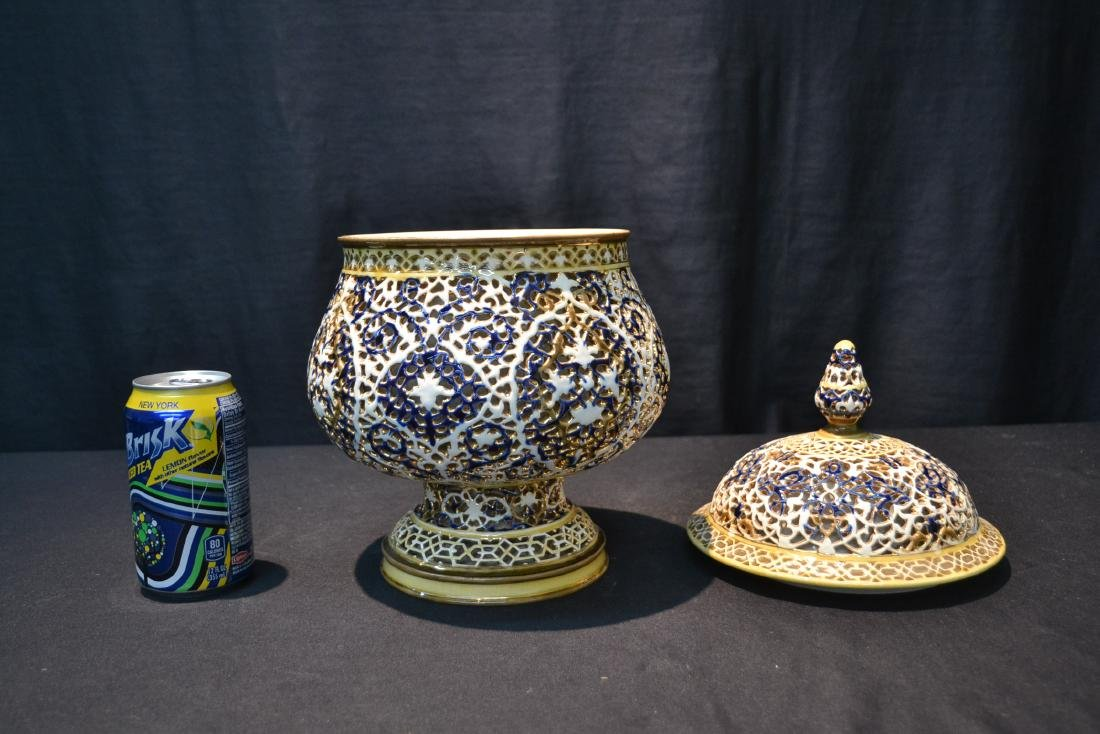 SZOLNAY RETICULATED DOUBLE WALL COVERED BOWL - 5