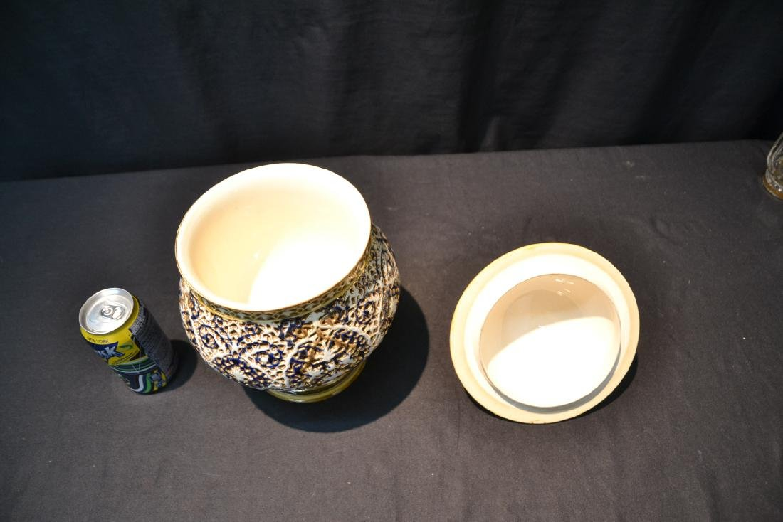 SZOLNAY RETICULATED DOUBLE WALL COVERED BOWL - 7