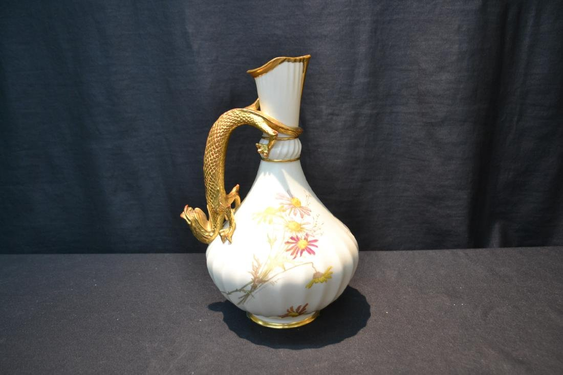 ROYAL WORCESTER LIZARD HANDLE PITCHER - 7