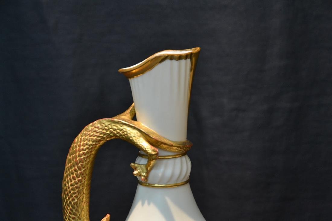 ROYAL WORCESTER LIZARD HANDLE PITCHER - 8