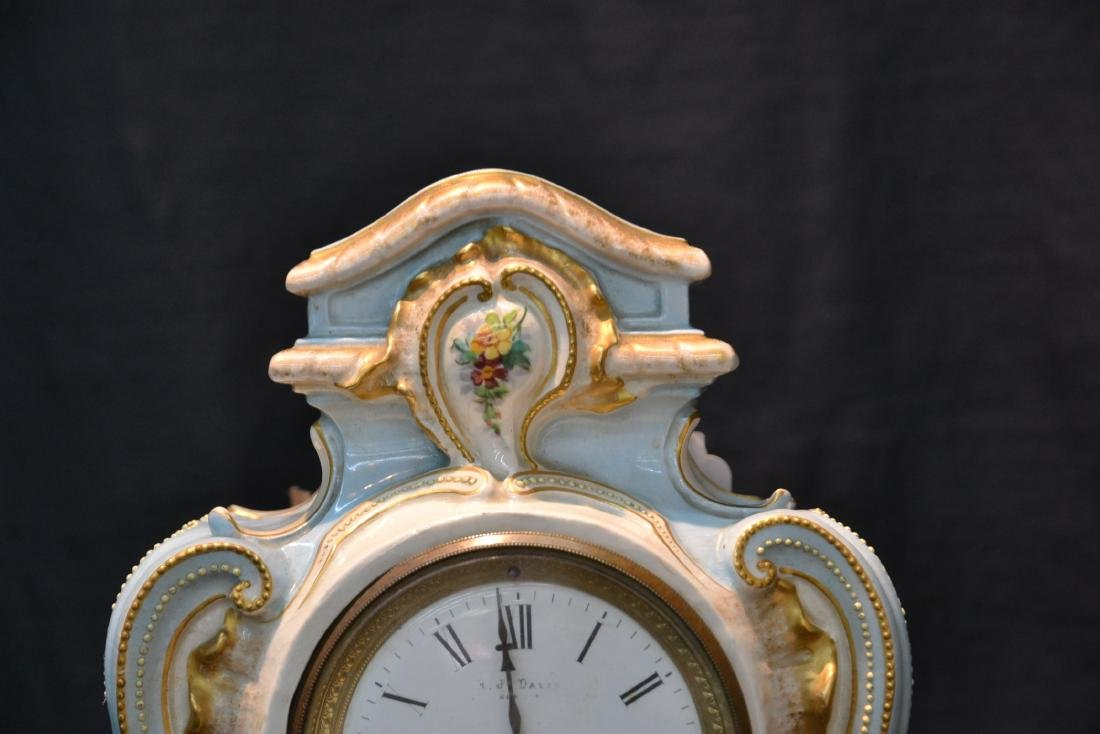 PORCELAIN CLOCK WITH FLOWERS - 4
