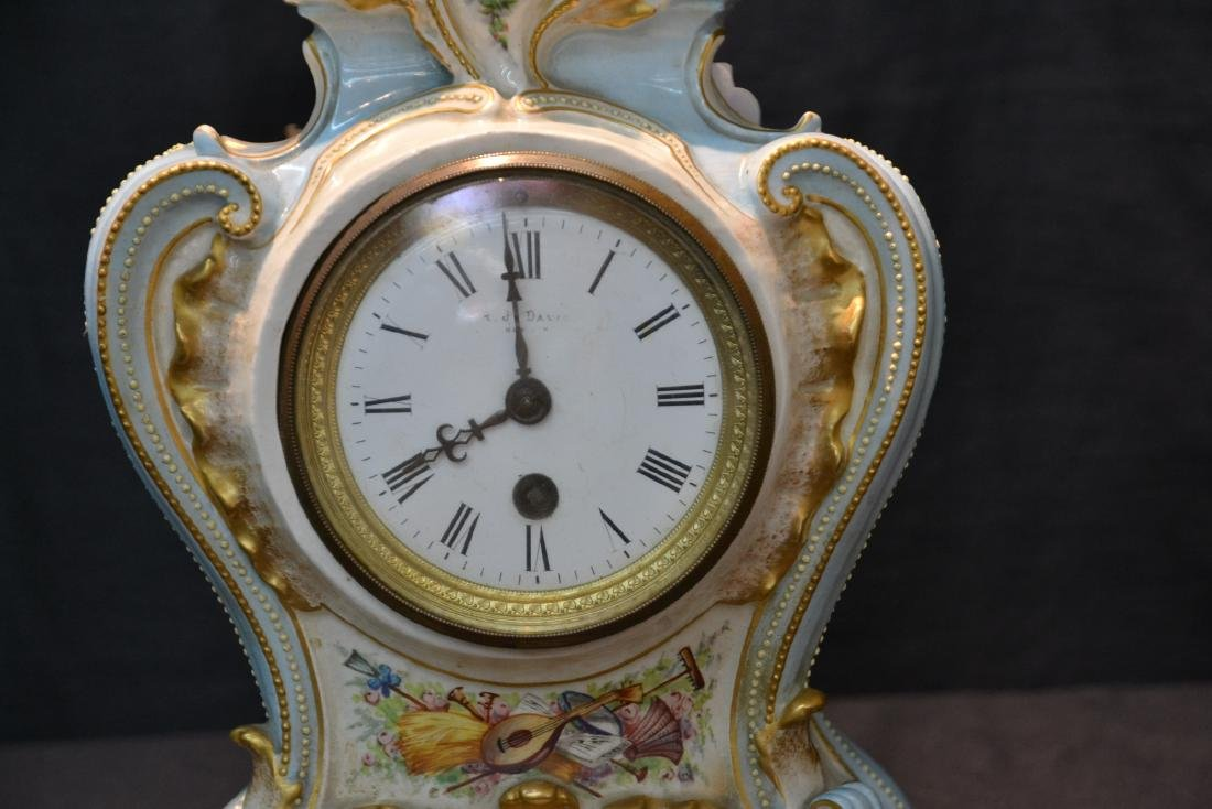 PORCELAIN CLOCK WITH FLOWERS - 5
