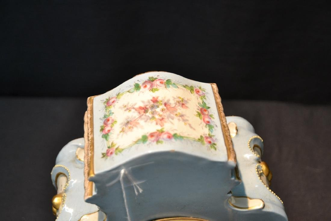 PORCELAIN CLOCK WITH FLOWERS - 9