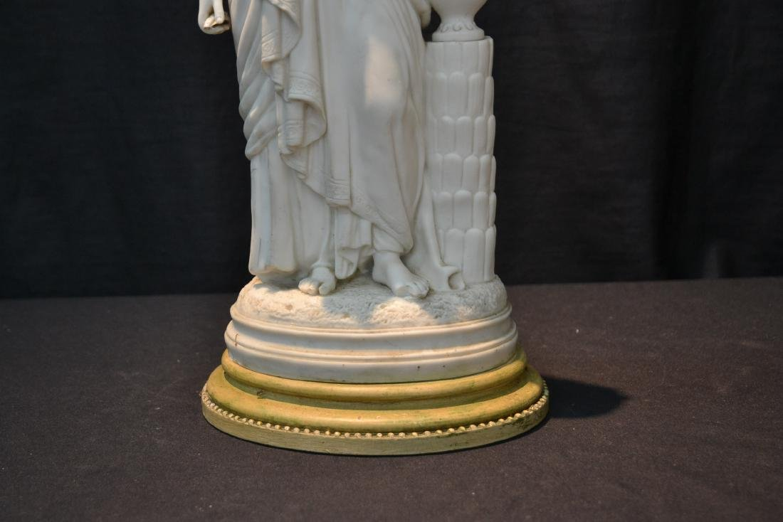 PARIAN FEMALE FIGURE LEANING ON URN - 4