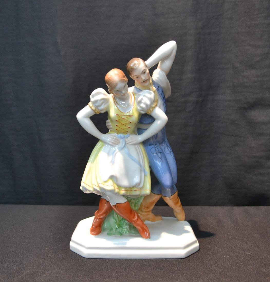 HEREND PORCELAIN DANCING COUPLE