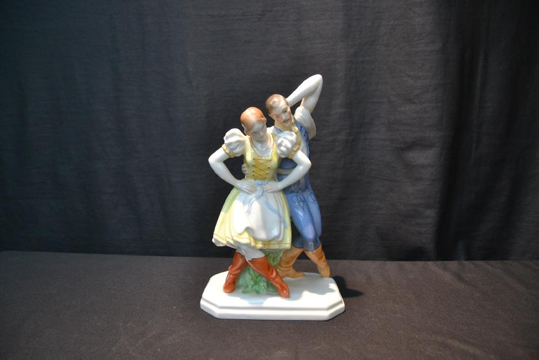 HEREND PORCELAIN DANCING COUPLE - 2