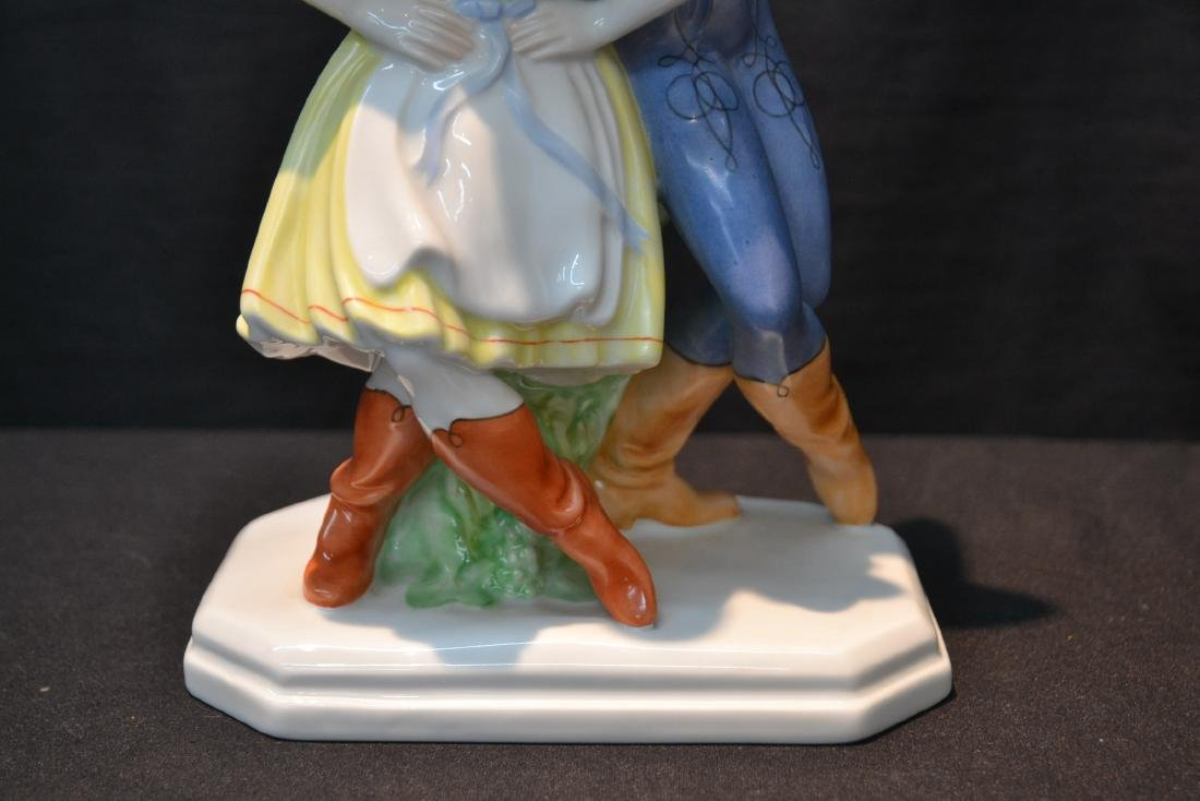 HEREND PORCELAIN DANCING COUPLE - 4