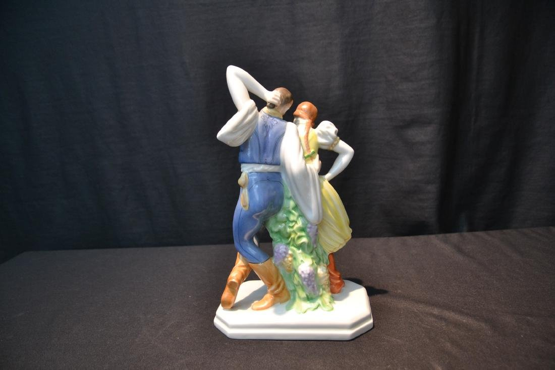 HEREND PORCELAIN DANCING COUPLE - 5