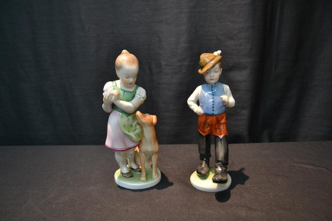 HEREND PORCELAIN BOY & HEREND PORCELAIN - 2