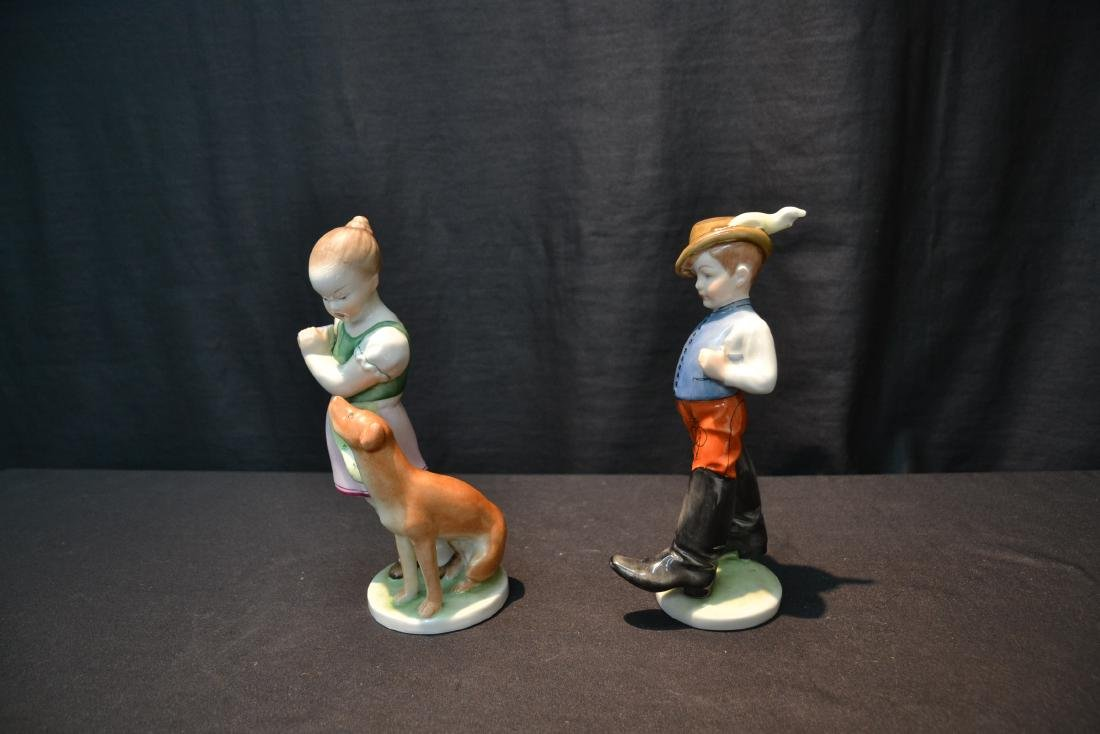 HEREND PORCELAIN BOY & HEREND PORCELAIN - 3