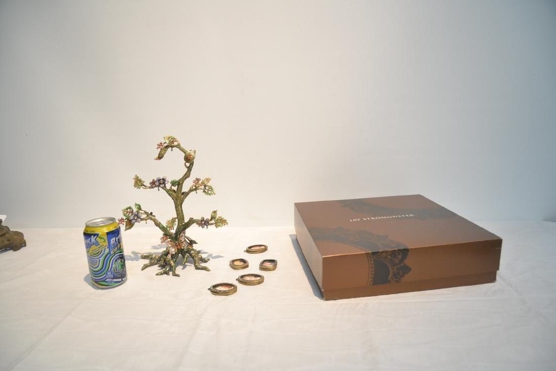 JAY STRONGWATER ENAMELED BRONZE TREE OF LIFE - 10