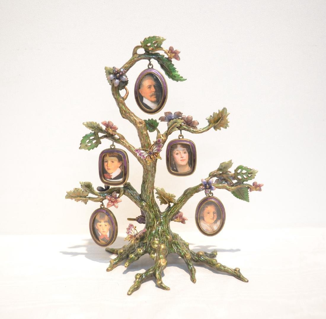 JAY STRONGWATER ENAMELED BRONZE TREE OF LIFE