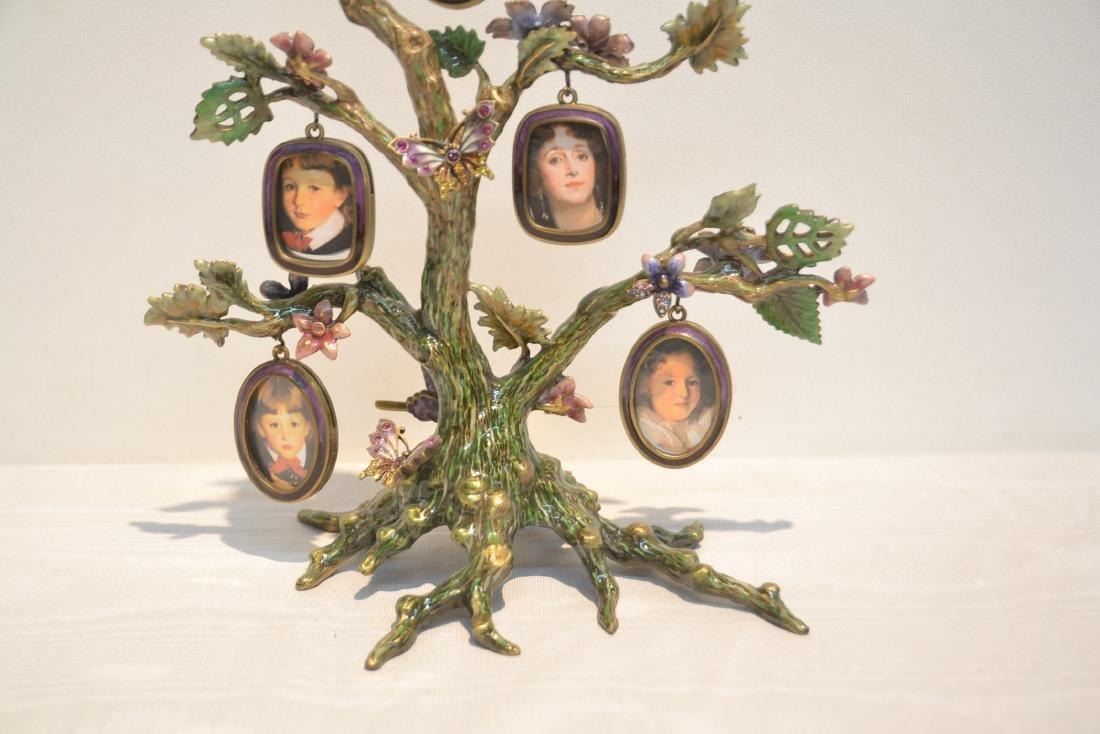 JAY STRONGWATER ENAMELED BRONZE TREE OF LIFE - 2