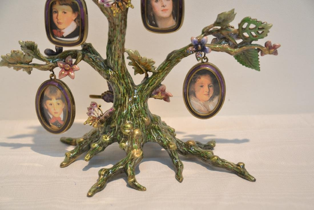 JAY STRONGWATER ENAMELED BRONZE TREE OF LIFE - 3