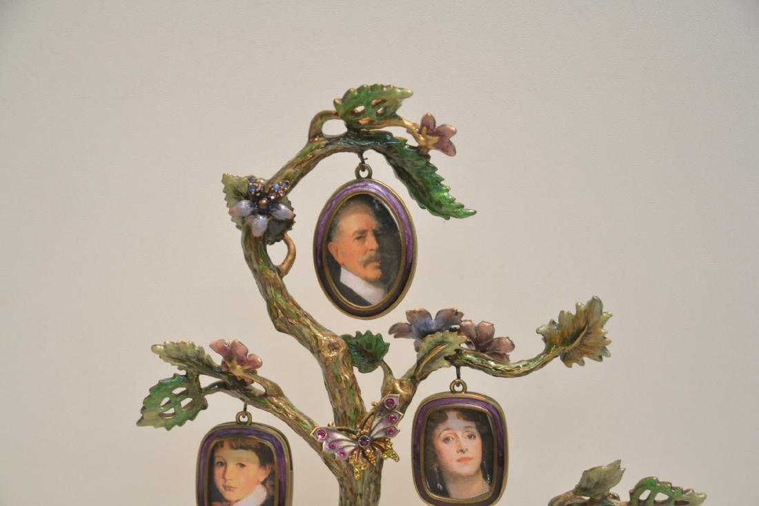 JAY STRONGWATER ENAMELED BRONZE TREE OF LIFE - 4