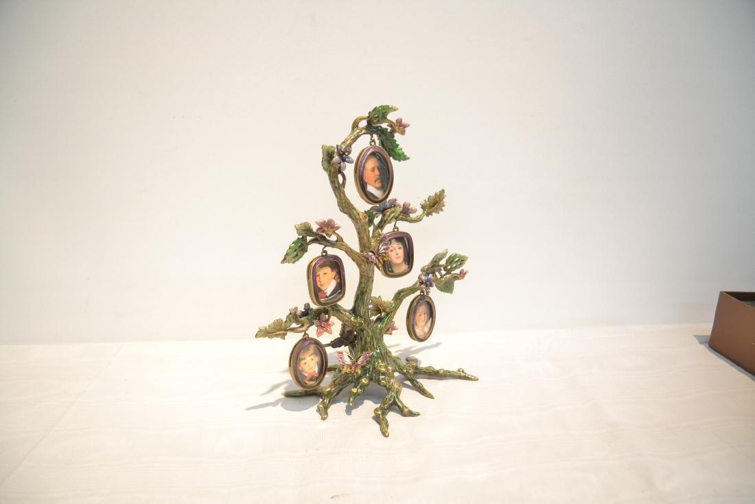 JAY STRONGWATER ENAMELED BRONZE TREE OF LIFE - 5