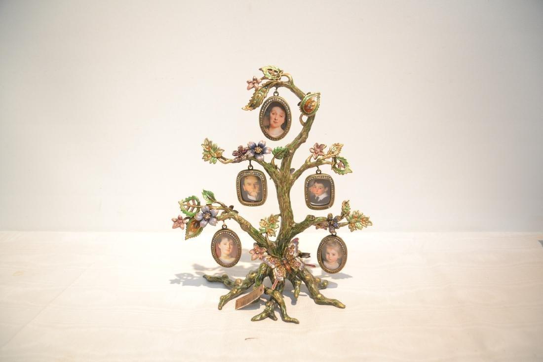 JAY STRONGWATER ENAMELED BRONZE TREE OF LIFE - 7