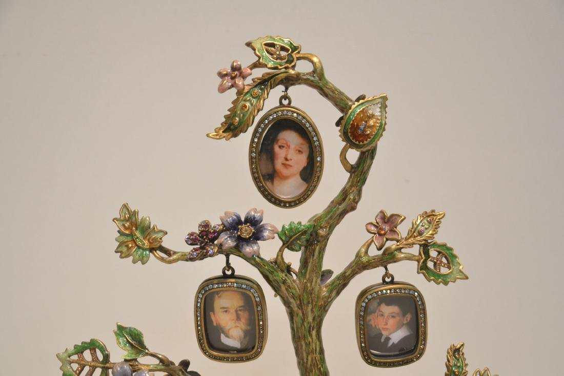 JAY STRONGWATER ENAMELED BRONZE TREE OF LIFE - 8