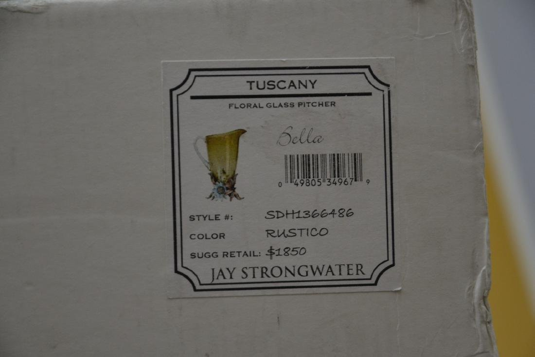 JAY STRONGWATER TUSCANY BELLA FLORAL GLASS - 10