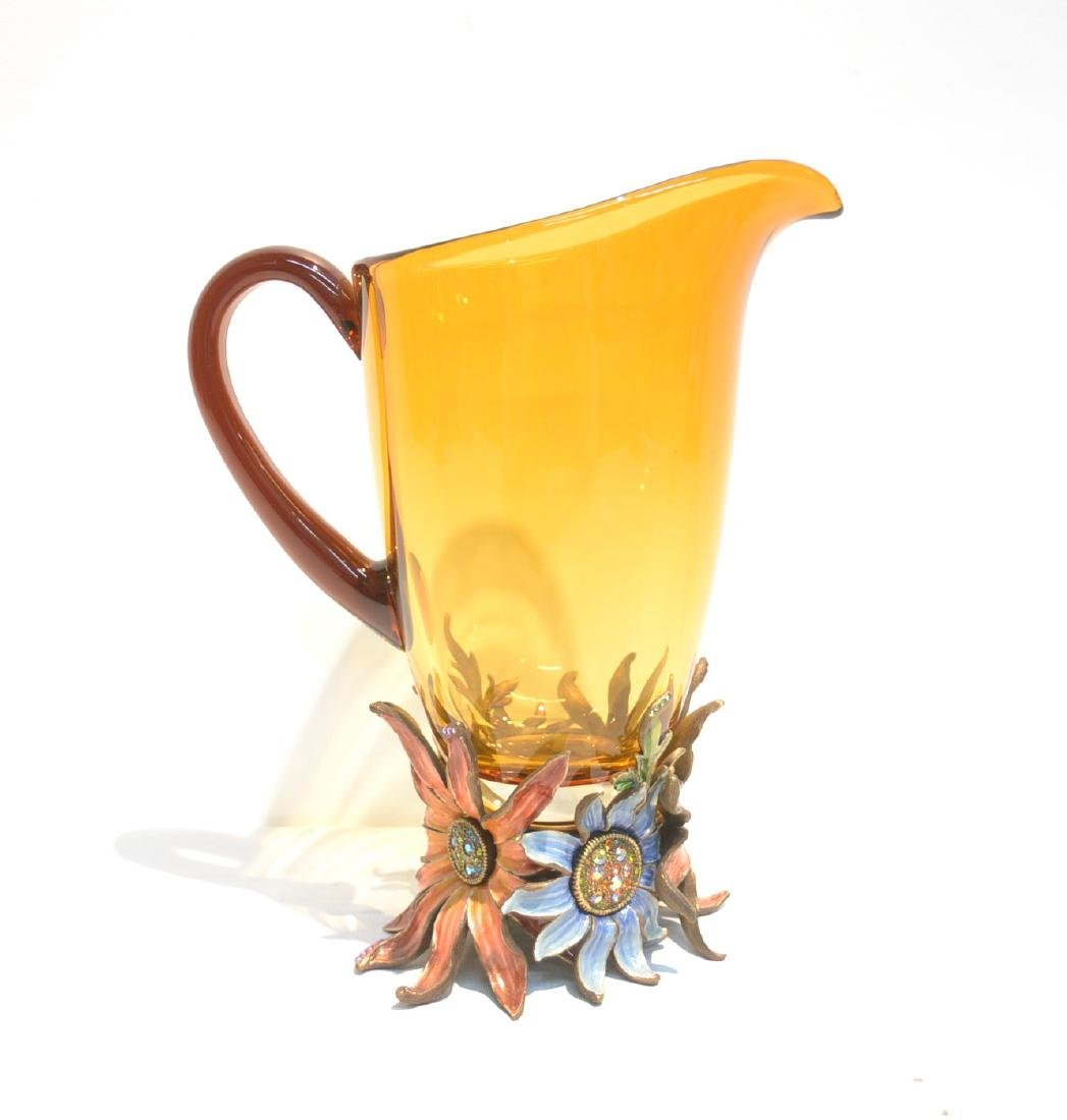 JAY STRONGWATER TUSCANY BELLA FLORAL GLASS