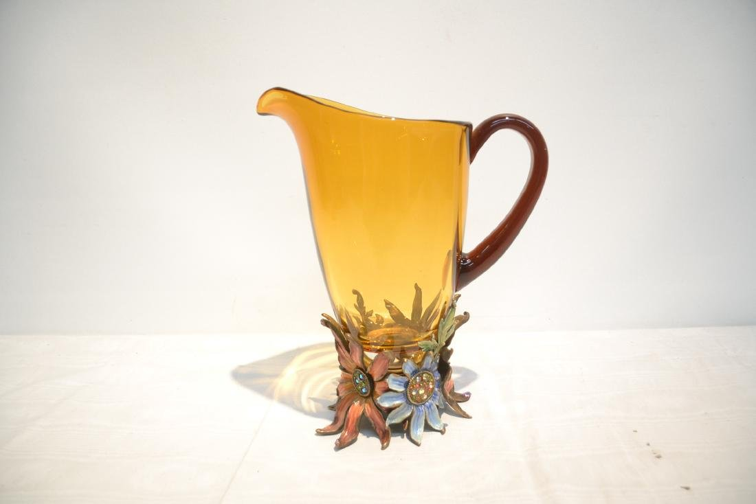 JAY STRONGWATER TUSCANY BELLA FLORAL GLASS - 6