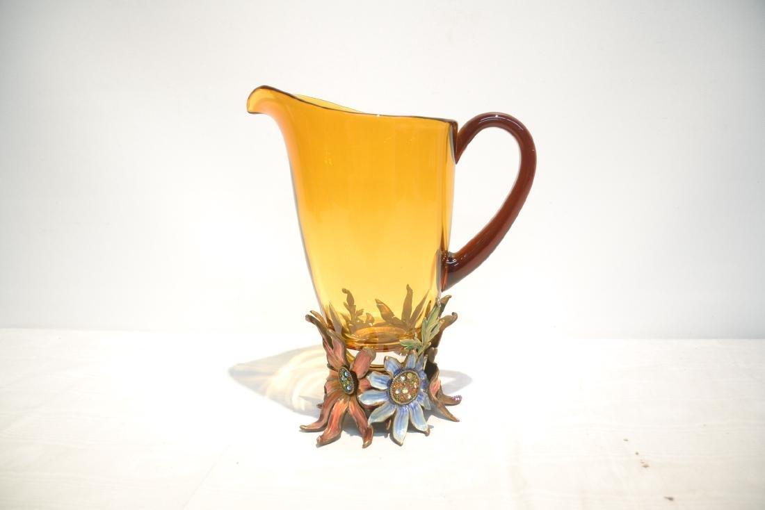 JAY STRONGWATER TUSCANY BELLA FLORAL GLASS - 7