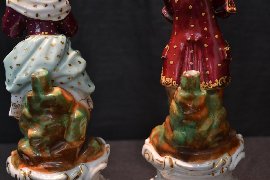 (Pr) PORCELAIN FIGURAL PERFUME BOTTLES - 6