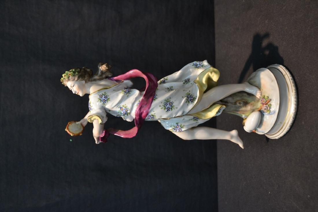 LUDWIGSBURG PORCELAIN FIGURE OF ALEMANIA - 4