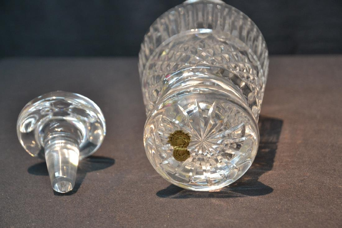 WATERFORD CRYSTAL DECANTER & COBALT CUT TO CLEAR - 7