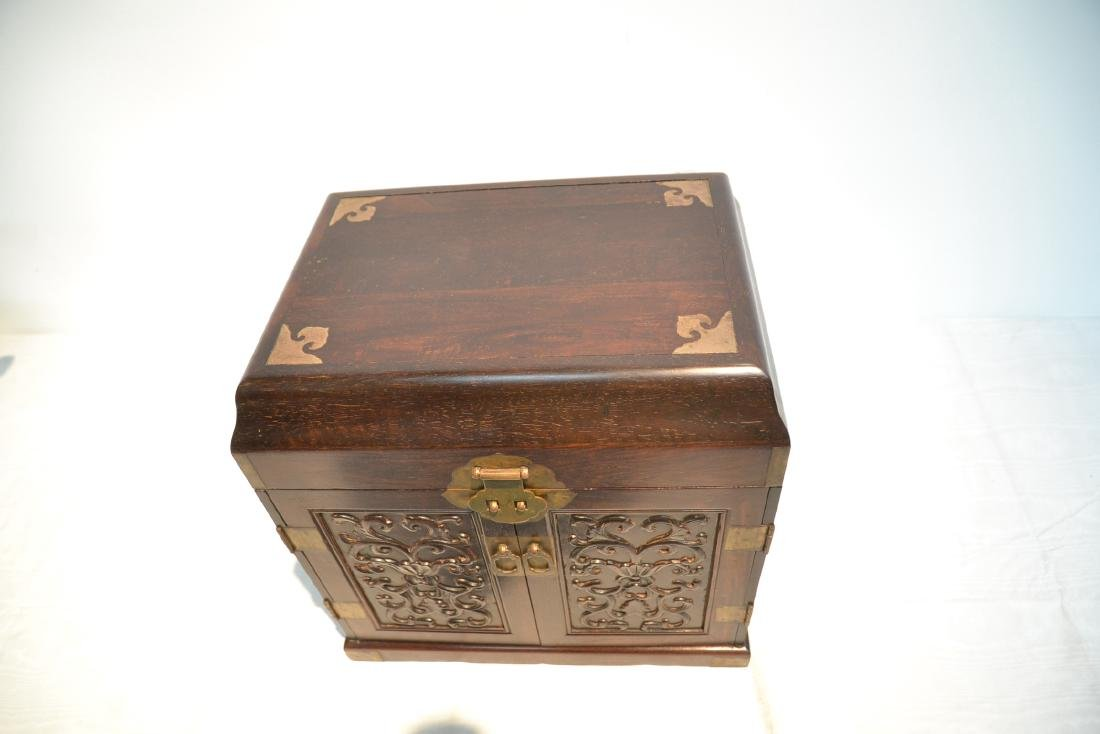 CHINESE ROSEWOOD JEWELRY BOX - 4