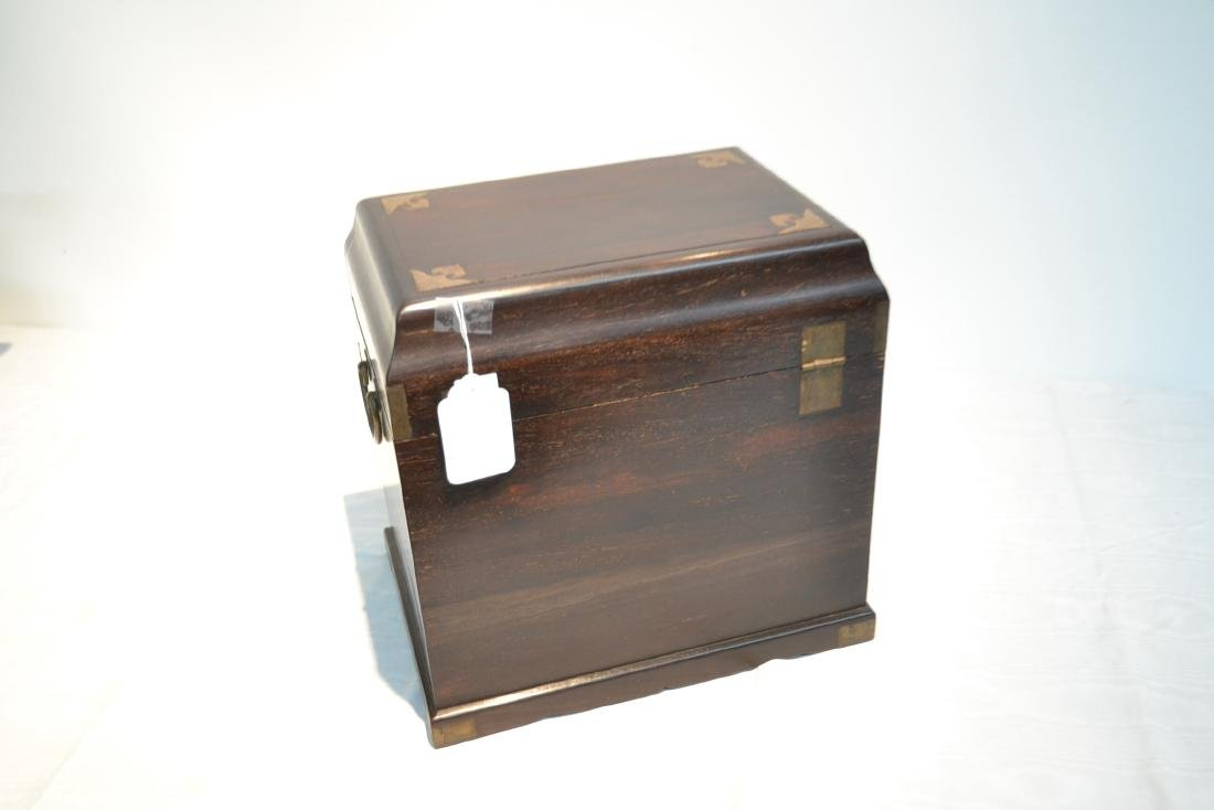 CHINESE ROSEWOOD JEWELRY BOX - 5